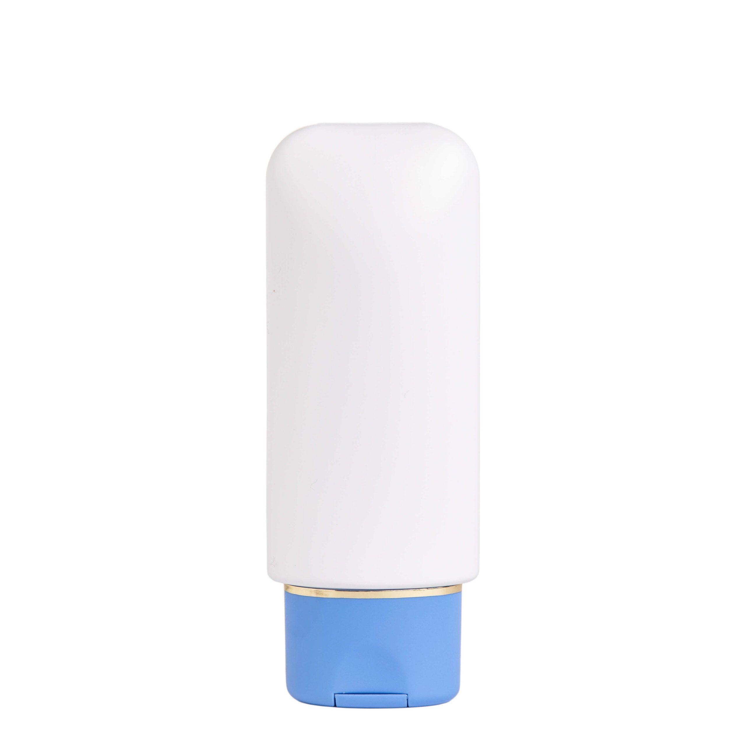 envase botella tapon azul