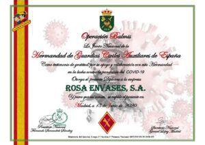 agradecimiento a Rosa Envases